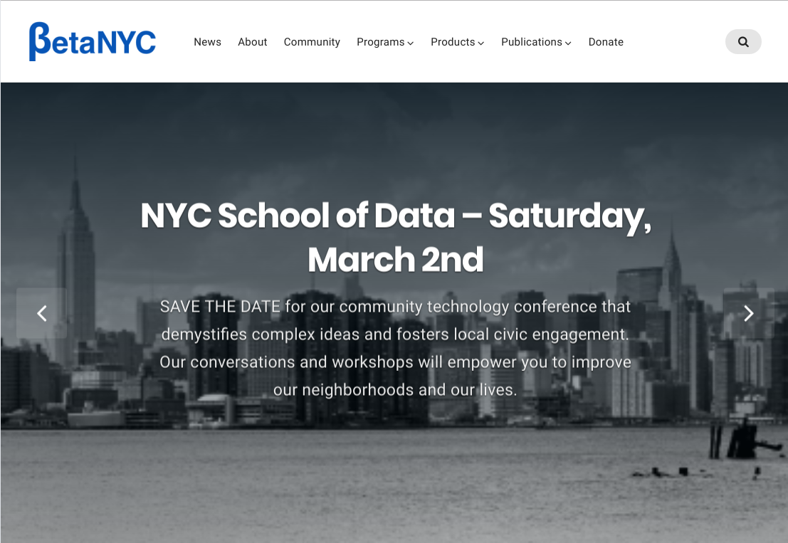 Upgrading BetaNYC's Website